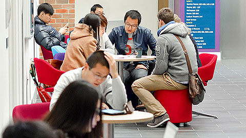Students working in a Freeman Centre study space